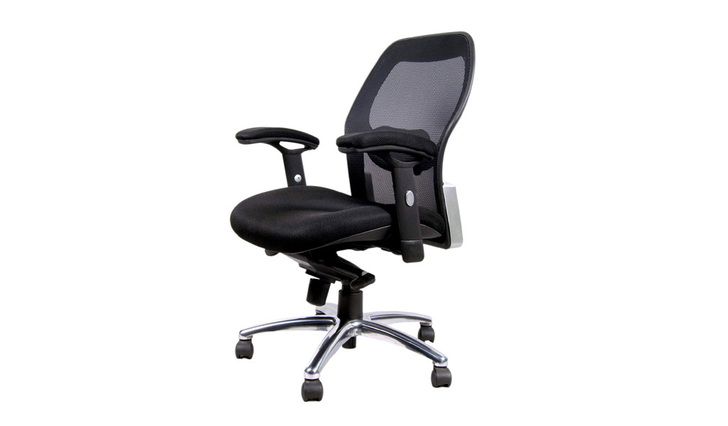 task chair in black mesh with synchro tilt mechanism