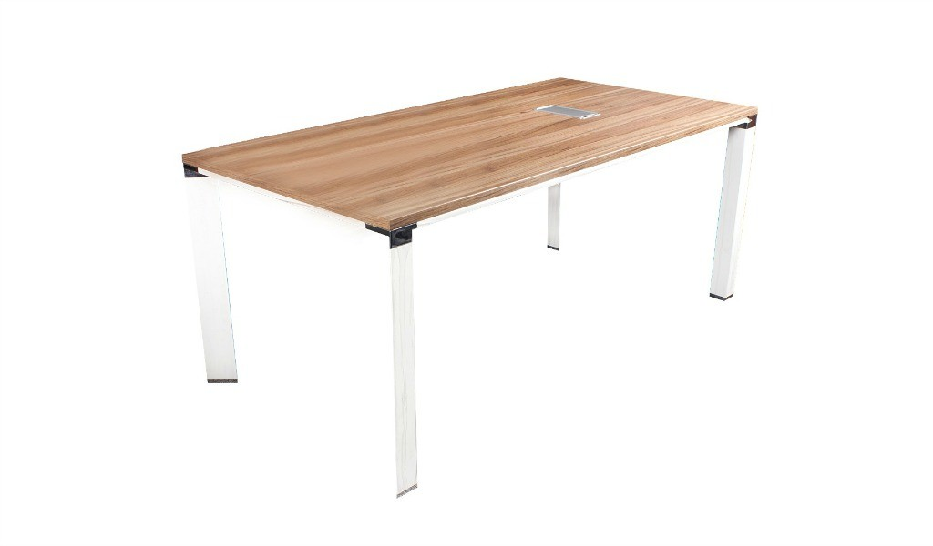 meeting table with walnut laminate top