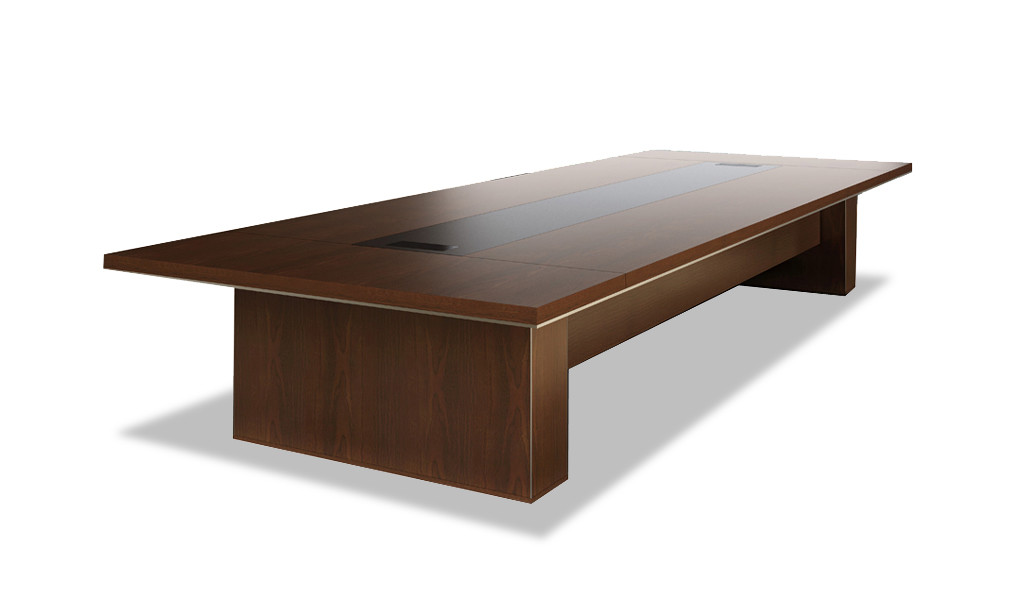 conference table in natural wood finish laminate