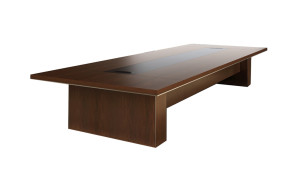 conference table in sapele wood finish