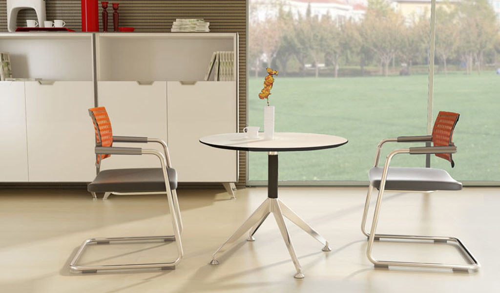Sharp Round Meeting Table & Chairs: BCCSH-23M