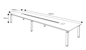 16 feet conference table dimensions drawing