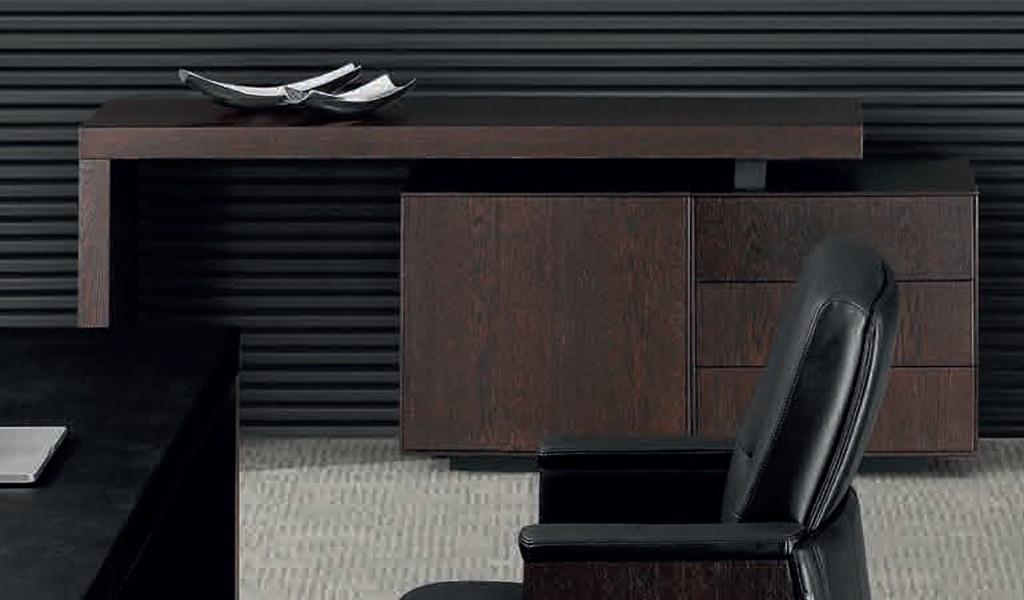 credenza in a dark wood finish