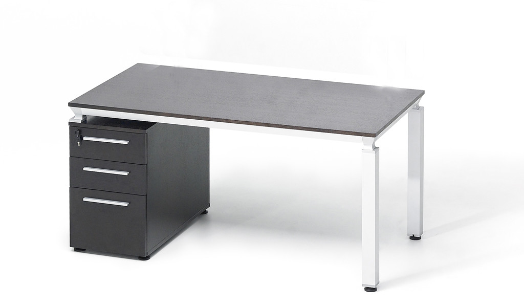 office desk in dark oak veneer finish