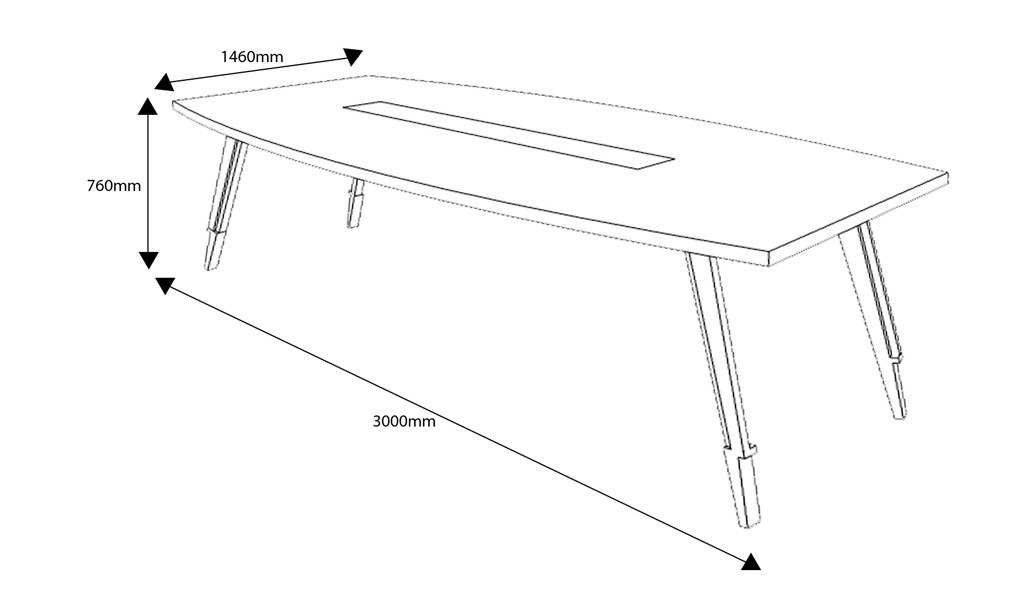10 feet meeting table shop drawing with size