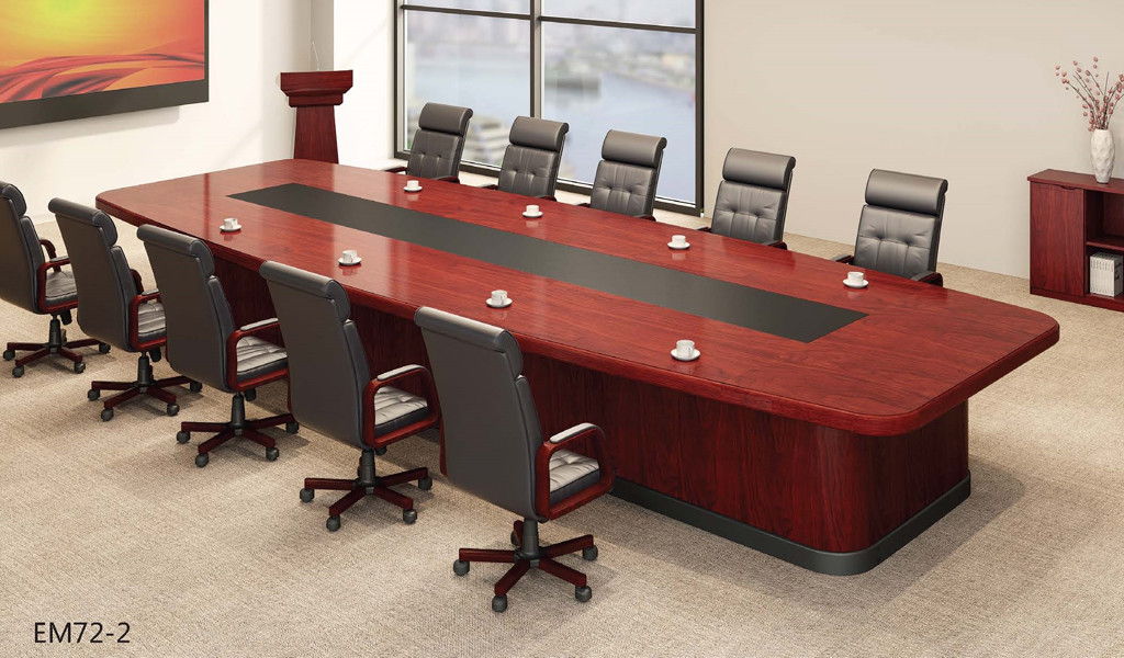 large boardroom with meeting table and leather chairs