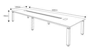 shop drawing of Eazy 12 feet conference table