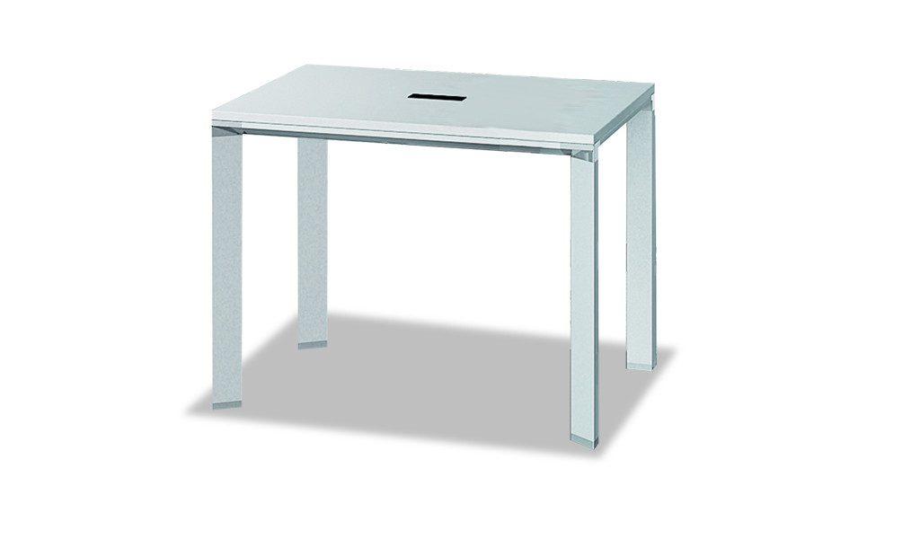 square meeting table in white