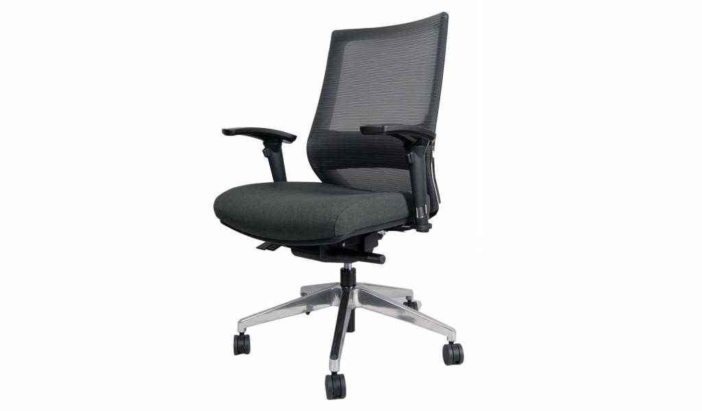 medium back office chair in black mesh