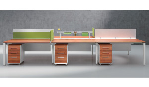 Customized desking system 'E-Half - Straight'