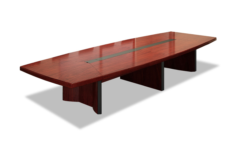 meeting table in red walnut finish