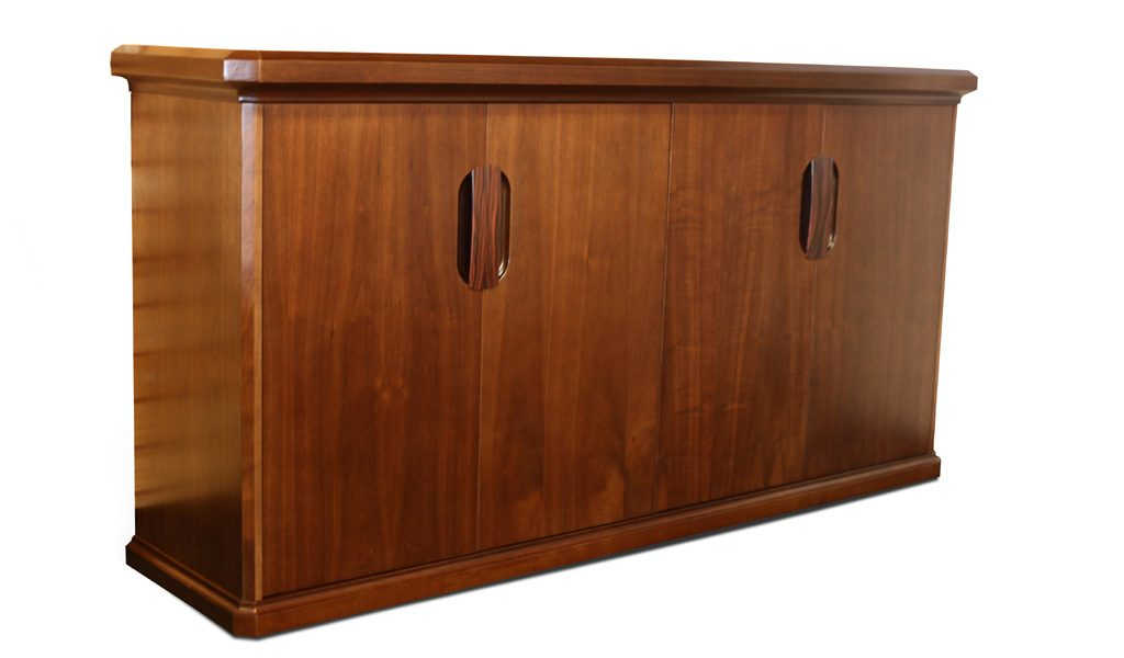 four door office credenza in wood