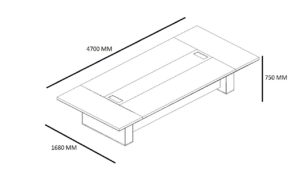 shop drawing of 15 feet dx series conference table