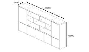 shop drawing of Lexon 10 fete office cabinet