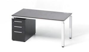 Wenge Wood Workstation 'Easy - Twin'