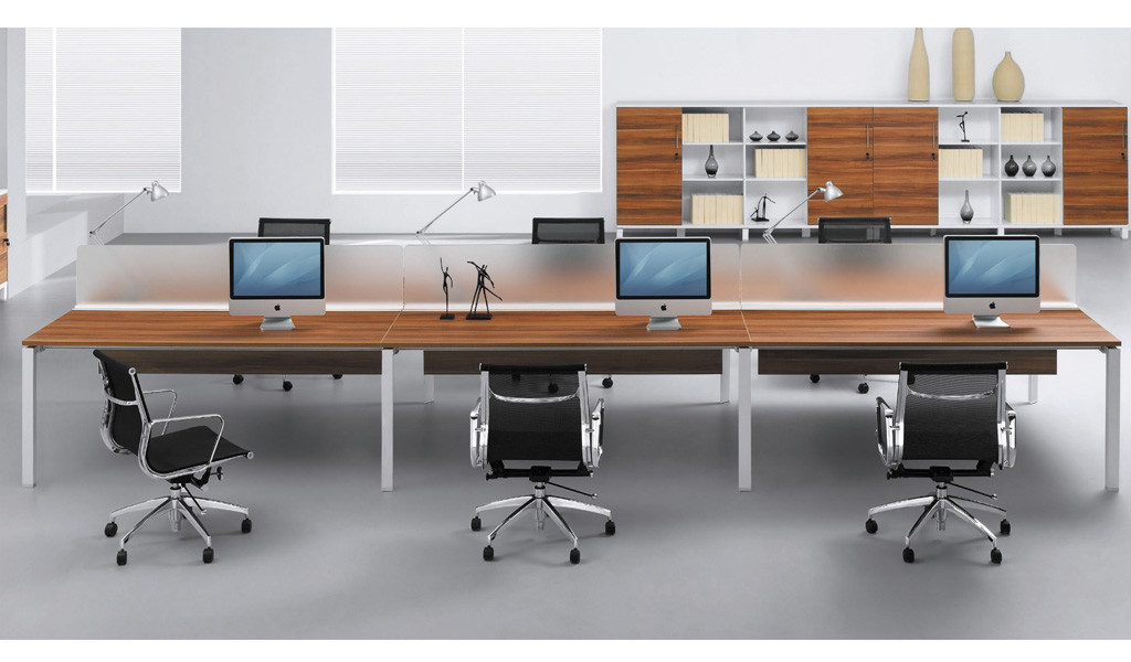 contemporary work place with workstations and chairs