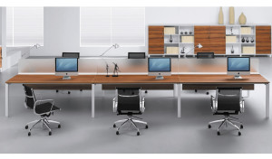 Linear Workstations With Raceway 'E-Half - Straight'
