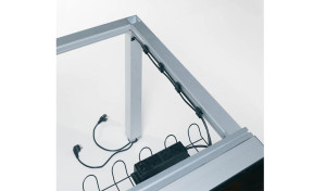 conference table frame with wire management provision