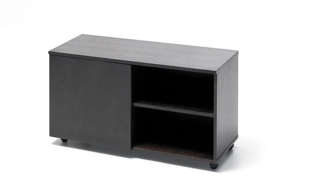 low height office cabinet in veneer
