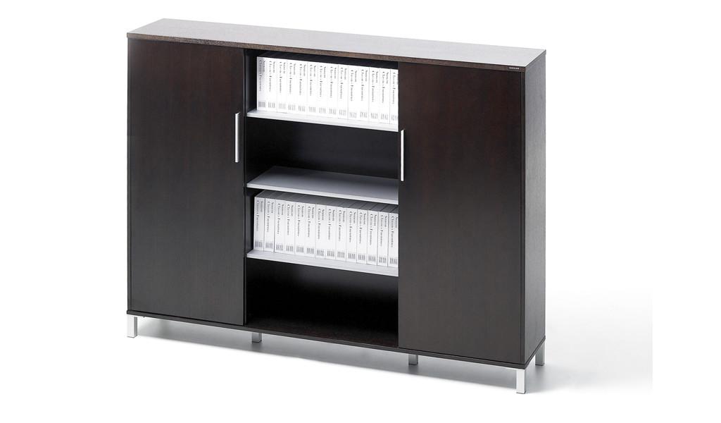 office cabinet and bookshelf in dark veneer