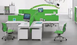 4 Seater Desk 'E-Half - Plus'