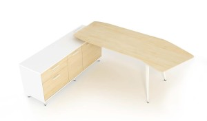 stylish office table in maple wood finish