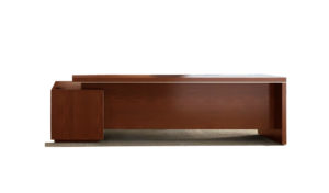 modern office desk with side credenza