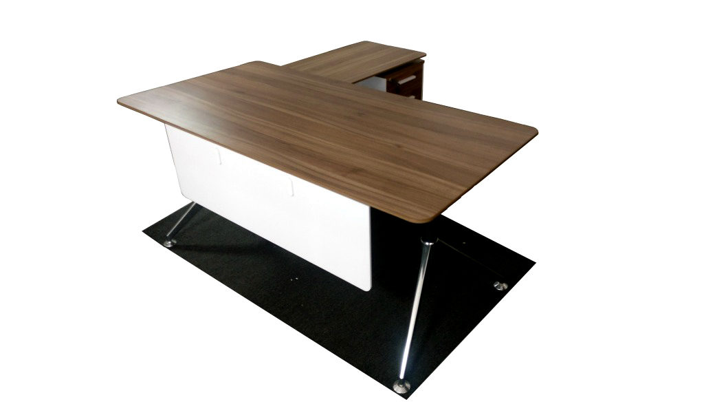 Office Table In Walnut Laminate