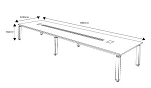 20 feet conference table dimensions diagram