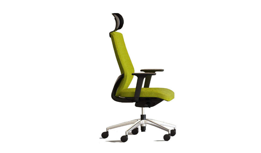 high back office chair with donati synchro-tilt mechanism