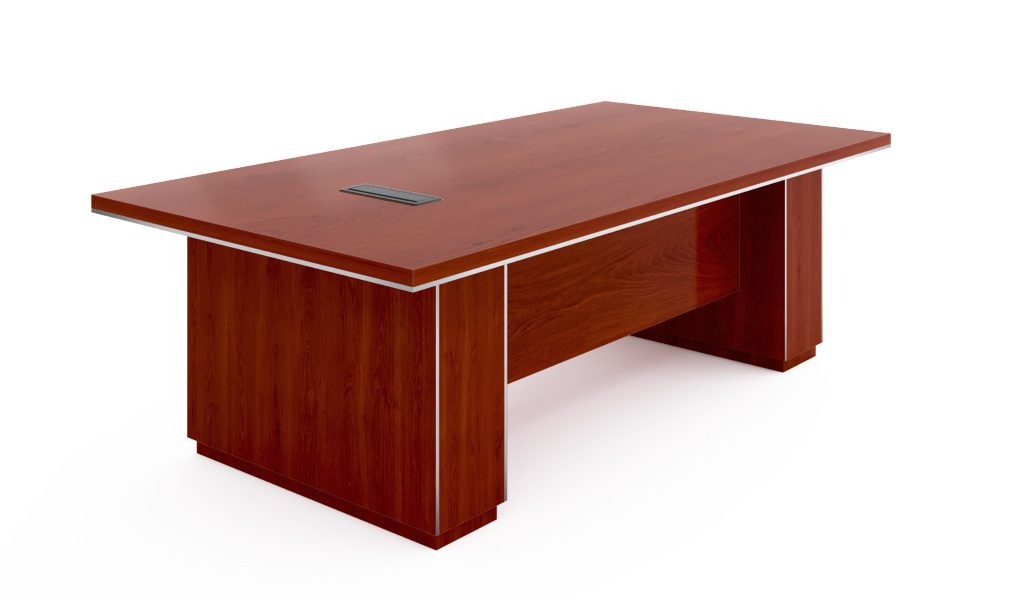 8 seater conference table with wirebox