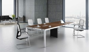 10 seater meeting table with steel legs