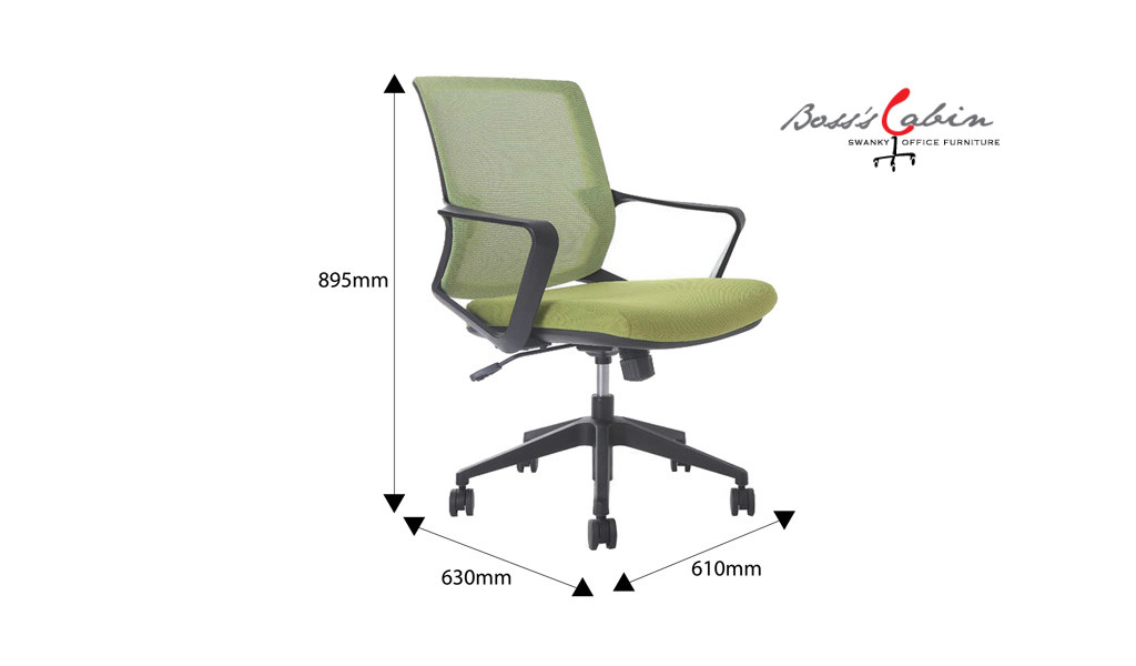 Chair with height adjustment