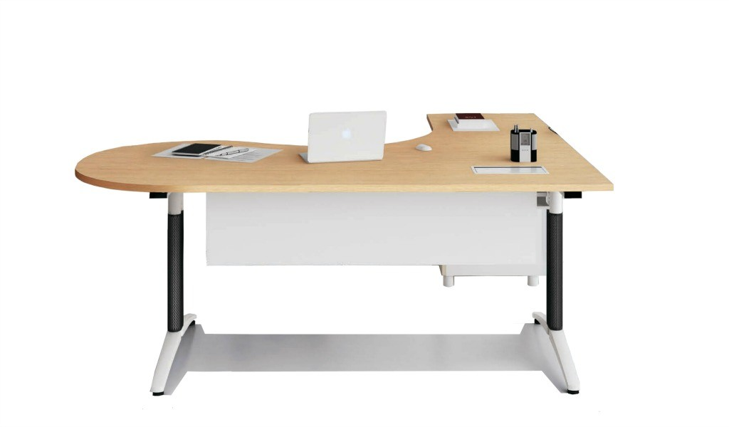 6.5 feet L shaped office table with storage