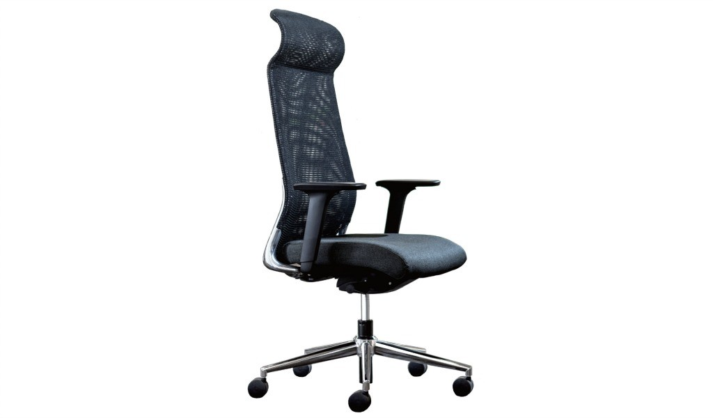 high back office chair with Donati synchro tilt mechanism from Italy