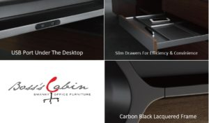 office table with inbuilt USB ports