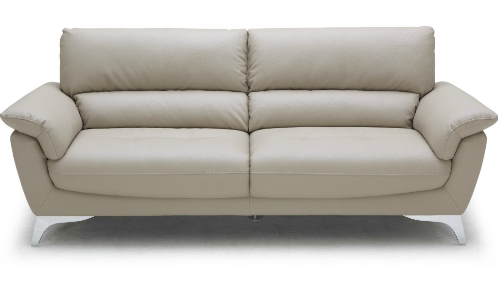 three seater office sofa in beige leather