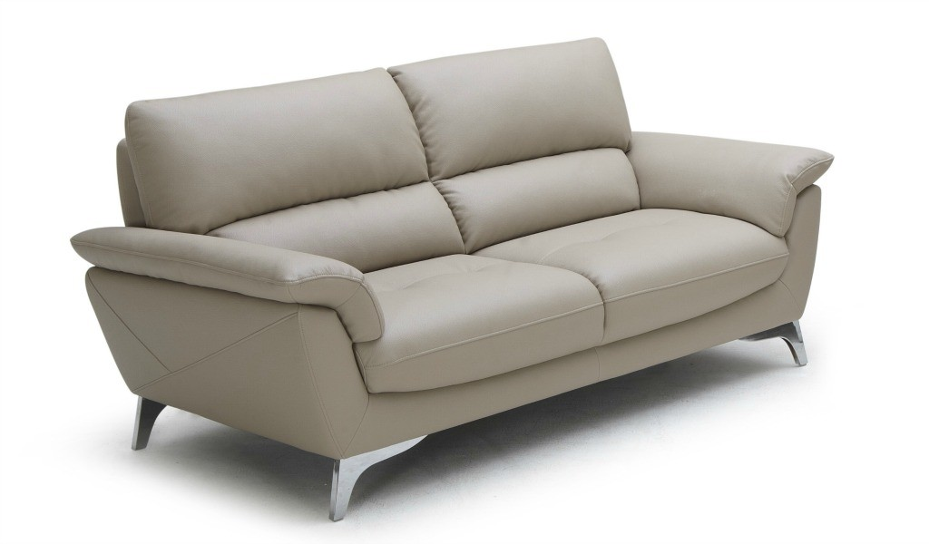two seater office sofa in beige leather