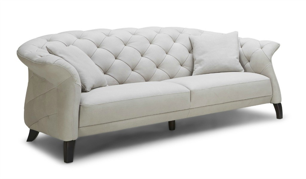 three seater chesterfield sofa in leather