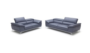 two and three seater leather office sofa with adjustable headrests
