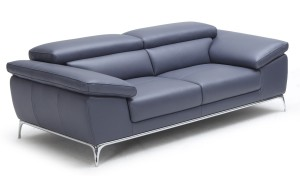 leather office sofa with stainless steel legs