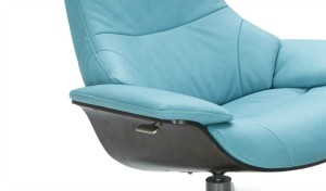 stylish lounge chair with reclining feature