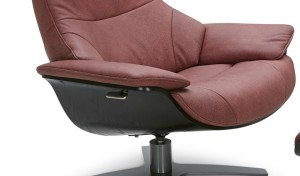 leather lounge chair with reclining feature