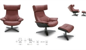 dimensions drawing of recliner sofa and ottoman