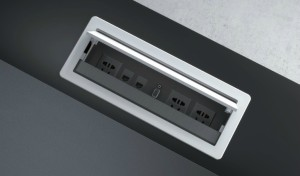 office desk wire box with sockets