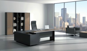 contemporary office interiors with sleek office table