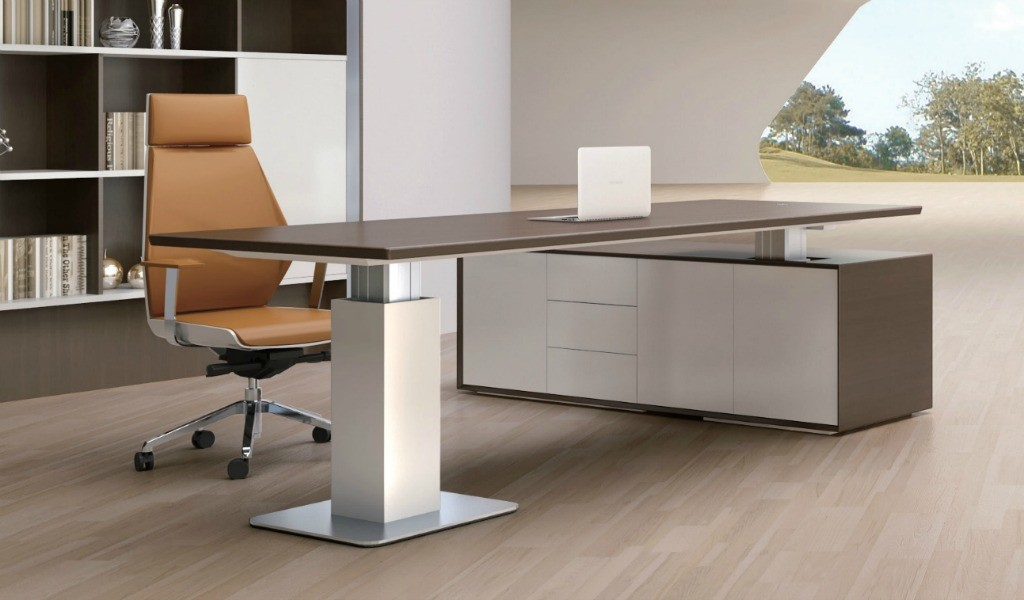 office cabin with premium height adjustable desk