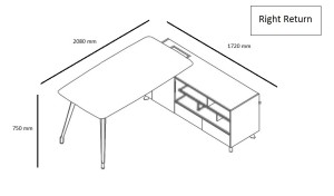L shape office table shop drawing with right orientation