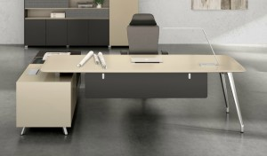 contemporary office cabin with premium office table in lacquer with chair
