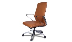 premium office chair in tan leather